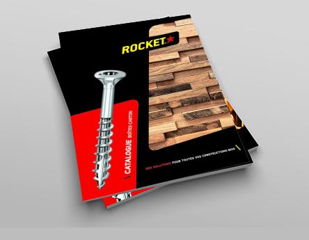Couverture du catalogue ROCKET pour les professionnels du bois
